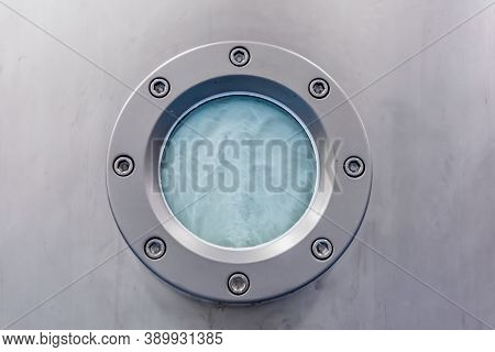 Closeup Of Muffle Furnace Equipment In Pharma Or Chemical Manufacturing Plant Or Industry. Pill Make