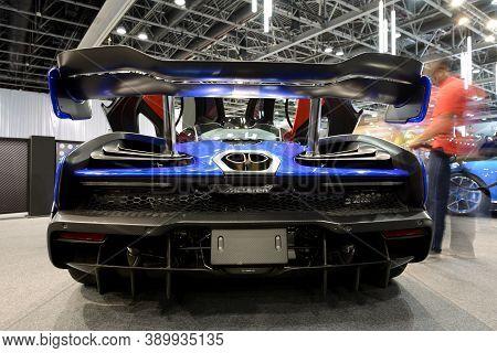 Dubai, Uae - November 16: The Mclaren Senna Race Car Is Dubai Motor Show 2019 On November 16, 2019