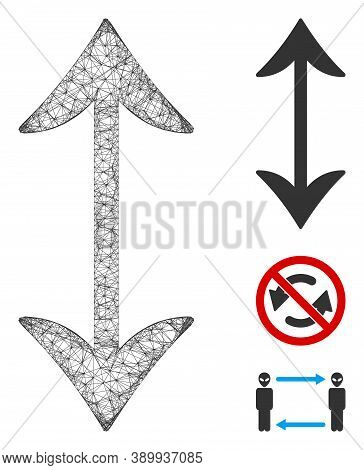 Mesh Swap Vertically Polygonal Web Icon Vector Illustration. Carcass Model Is Created From Swap Vert