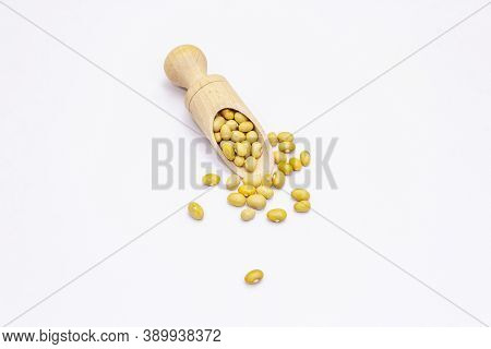 Dry Mung Beans Isolated On White Background