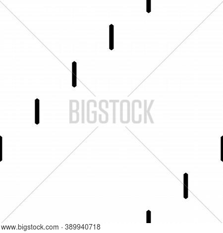 Seamless Surface Pattern Design With Strokes. Broken Lines. Dashes Motif. Vertical Bars Illustration