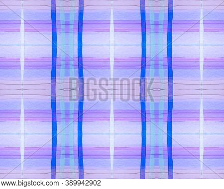 Pink Check Print. Watercolour Plaid Flannel. Wool Traditional Squares For Tile Print. Seamless Viole