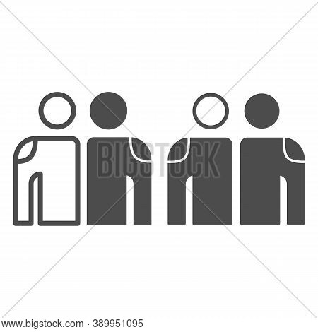 White And Black Friendship Line And Solid Icon, Black Lives Matter Concept, Blm Friendship Sign On W