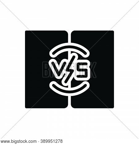 Black Solid Icon For Vs Versus Competition Battle Challenge Contest Comparison