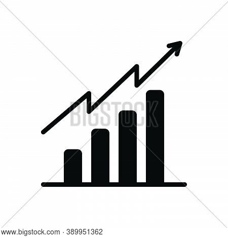 Black Solid Icon For Tendency Analytics Barchart Graph Increase Rise Enhancement Propensity Inclinat
