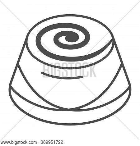 Chocolate Candy Thin Line Icon, Chocolate Festival Concept, Candy Sign On White Background, Chocolat