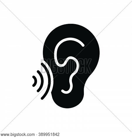 Black Solid Icon For Whisper Murmur Mutter Mumble Speak-softly Buzz Secret Listen Ear
