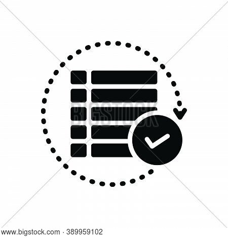 Black Solid Icon For All Each-of Everyone Full Total Perfect Entire Whole Complete