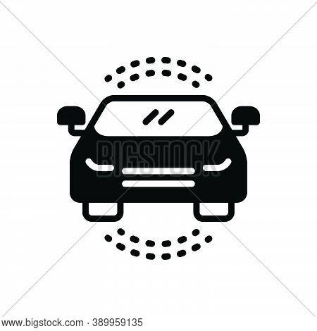 Black Solid Icon For Auto Passenger Car Automobile Conveyance Carriage Automotive Headlight Transpor