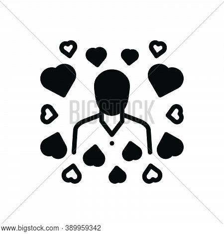 Black Solid Icon For Modest Hackneyed Common Average Middle Humble In-love Simple Integrity Unpreten