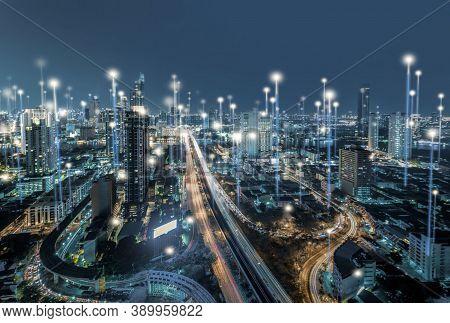 Technology Background. Modern Technology Background Design Concept. Cyber Technology Ai Tech Wire Ne