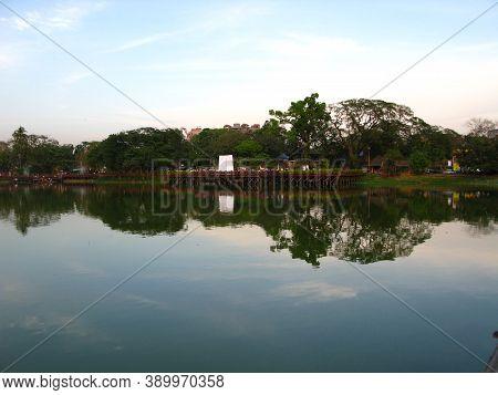 The Lake In The Center Of Yangon, Rangoon, Myanmar