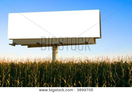 Billboard In A Field Of Corn
