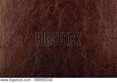 Brown Leather Background. Brown Leather Texture Closeup Background. Structured Background Design Lea
