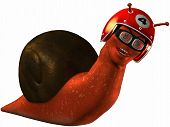 3D Render of an Toon Racing Snail poster