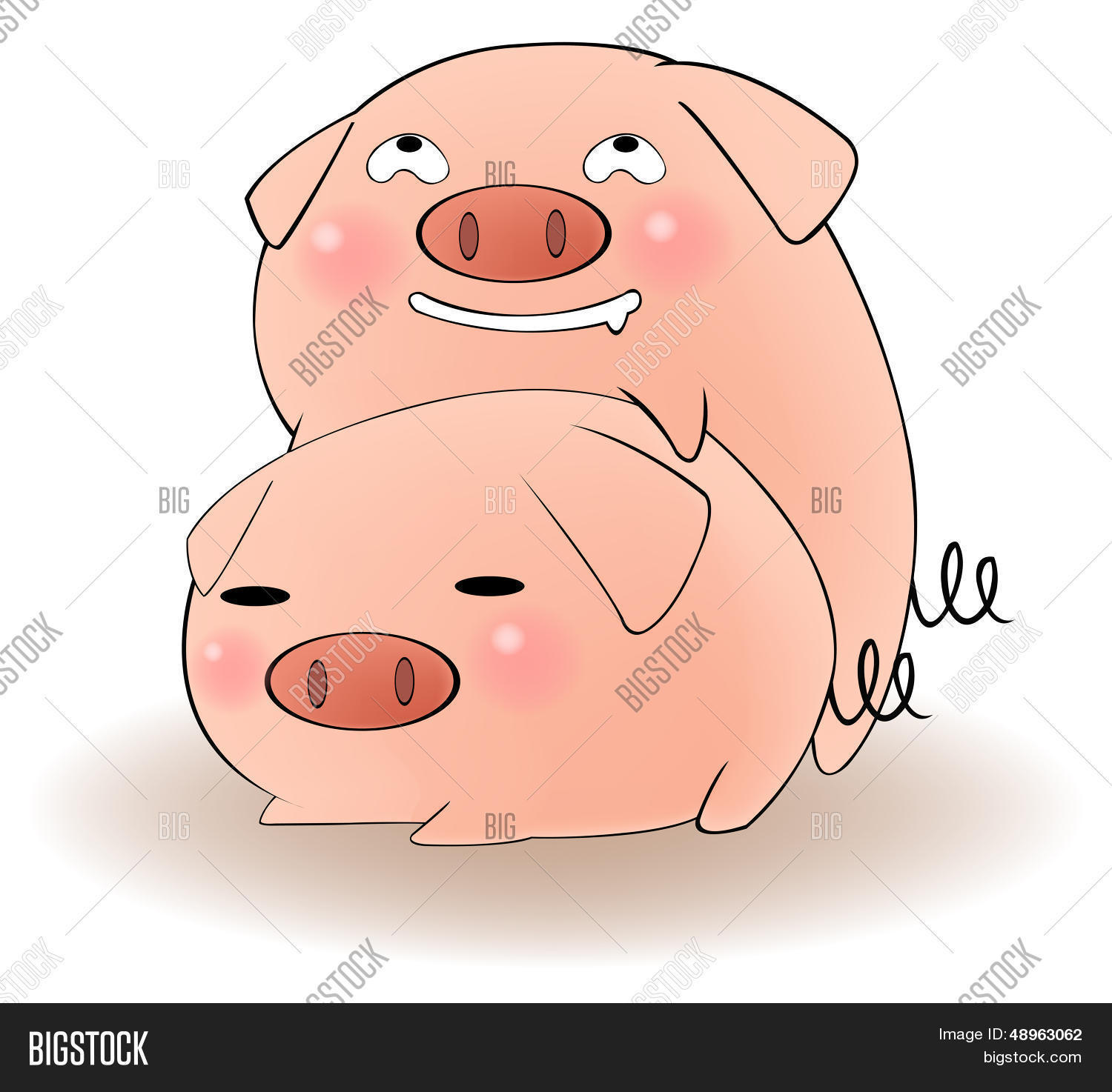 two cartoon pigs having sex vector & photo | bigstock