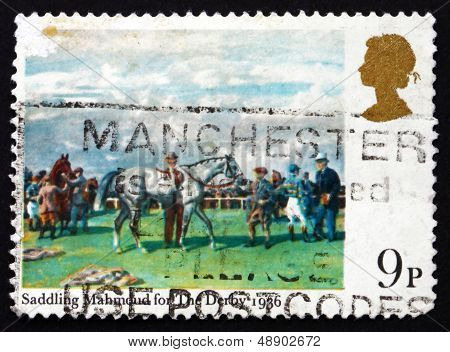 Postage Stamp Gb 1979 Saddling Mahmoud For The Derby