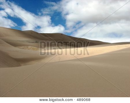 Sun And Shades In The Colorado Sand Dunes