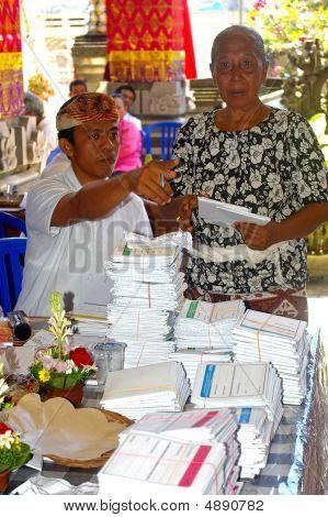 Elderly Woman Voting