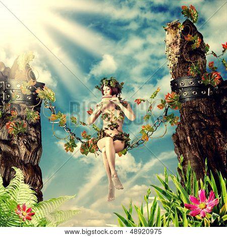 Young Beautiful Fairy Woman