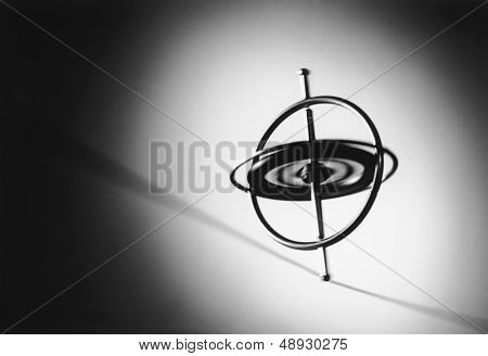 Gyroscope spinning on wire