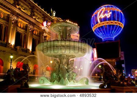 Paris in Las Vegas at night