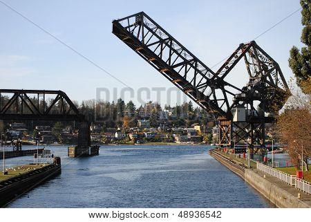 Ballard Locks Drawbridge