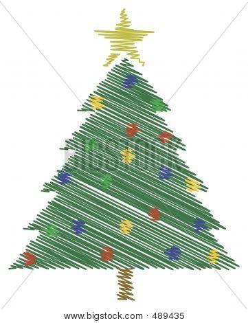 Scribble Xmas Tree