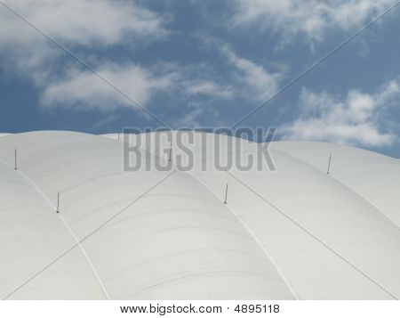 Air Supported Dome At A Sports Arena