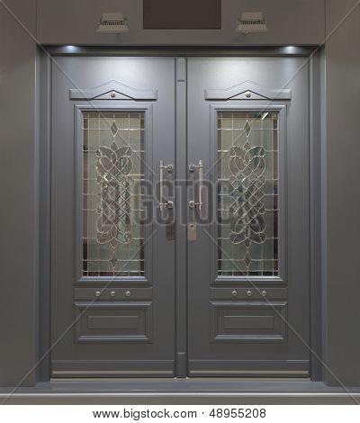 Massive Fire Proff Front Aluminum Door