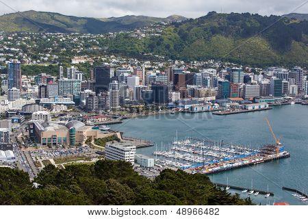 Wellington Skyline And Harbour