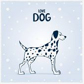 Dalmatian dogs vector illustration background. This is file of EPS10 format. poster