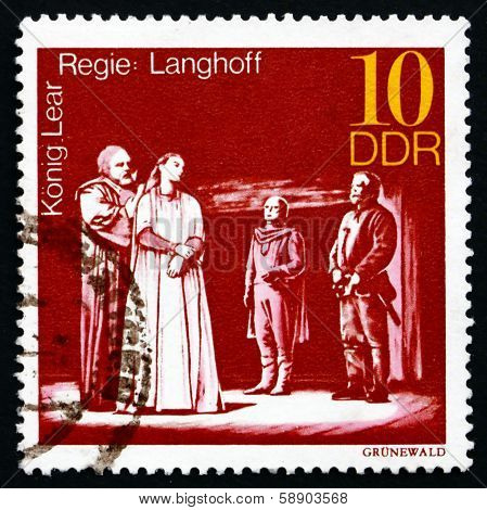 Postage Stamp Gdr 1973 King Lear, Performance