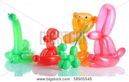Simple balloon animals, isolated on white