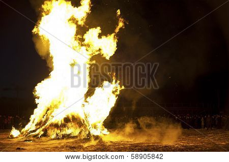 Cleansing Fire Before Oriental New Year