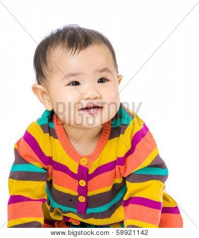 Asian baby smile