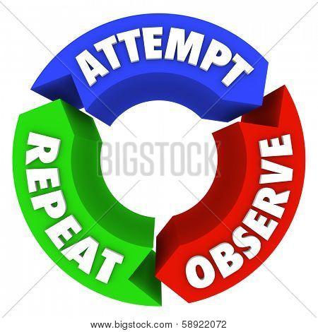 Succeed Attempt Observe Repeat Success Diagram Steps