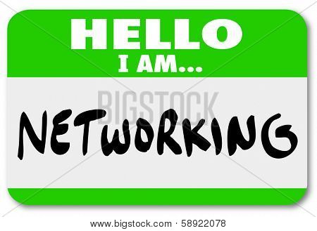 Networking Name Tag Sticker Meet Greet Introduction Opportunity