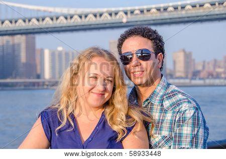 Inter-ethnic couple in New York