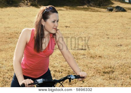 Bicycling In The Field