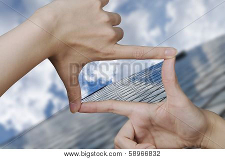 vision of a glass business building