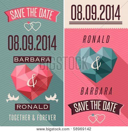 Romantic retro style invitation