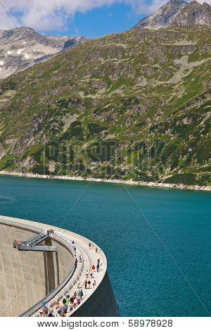 the reservoir for power generation by hydropower in malta, carinthia, austria. memory