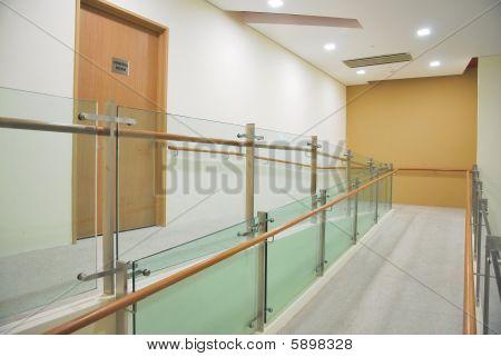 Raised Flooring Leading To A Door
