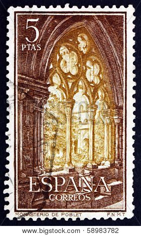 Postage Stamp Spain 1963 Gothic Arch, Monastery Of Poblet