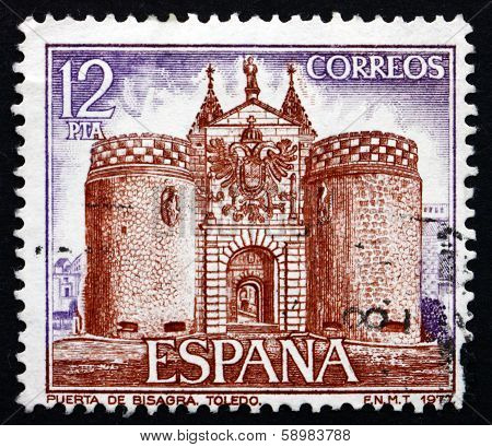 Postage Stamp Spain 1977 Bisagra Gate, Toledo