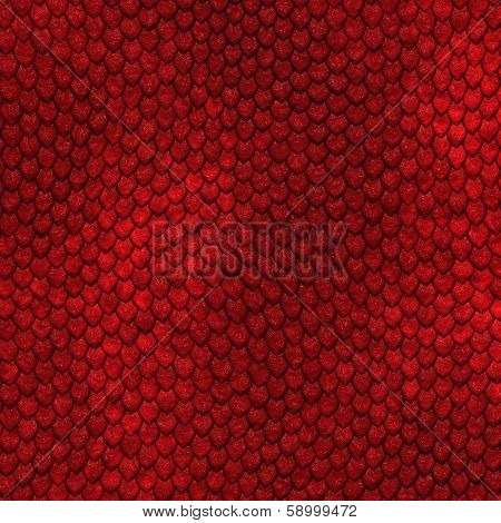 Seamless dragon scale pattern - a large texture poster