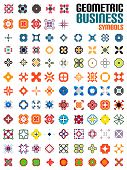 Huge set of business symbols - geometric shapes poster