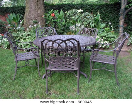Garden With Table And Chairs