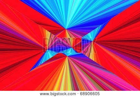 Abstract Geometric Ornament. Gradient Color Perspective. Broken Lines.  Frame.      A-0186.